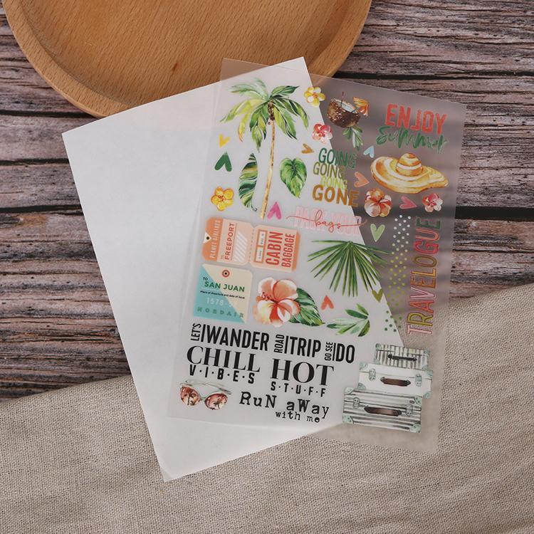可定制装饰贺卡手帐本diy儿童转印刮刮贴纸 4