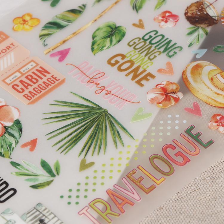 可定制装饰贺卡手帐本diy儿童转印刮刮贴纸 5