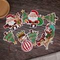 定制创意派对节假日圣诞麻绳挂三角旗纸质串旗 2