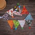 定製創意派對節假日聖誕麻繩挂三角旗紙質串旗 4