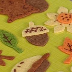 custom funny self adhesive felt stickers for kids die cut animal shape