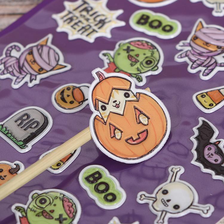 Eco Friendly Custom Design OEM for Kids 3D Bubble Eva Foam puffy sticker 5