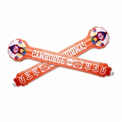 Promotional Cheering hand bang Inflatable Glow Sticks