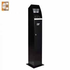New design stainless steel  standing ashtray bin