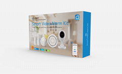 Home Security Alarm System WIFI Smart Home Video Alarm Kit 720P Cameras 3 Sensor