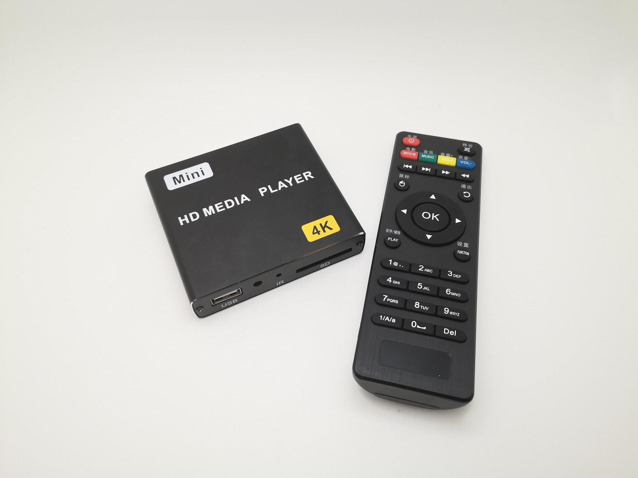 4K高清播放器單機廣告機通電自動循環播放視頻PPT橫豎屏U盤SD播放 5