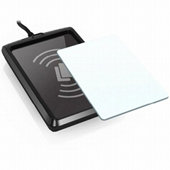 Dual interface 125khz 13.56mhz Portable RFID Reader NFC USB Reader