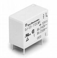 Tyco Electronics Miniature Power PCB Relay OJ/OJE 14610402-4