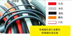PP阻燃塑料波纹管穿线软管可开口汽车用耐高温橙色波纹管