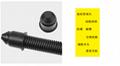 PP阻燃塑料波纹管穿线软管可开口汽车用耐高温橙色波纹管   3
