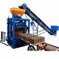 semi automatic concrete hollow block cement brick road paver making machine