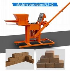 small manual interlocking clay brick block making machine
