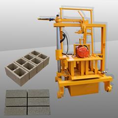 manual mobile concrete hollow block brick making machine