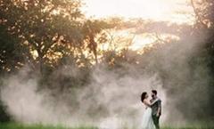 户外婚纱摄影舞台便携烟雾设备