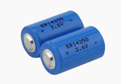 3.6V llSOCl2 ER14250 1200mAh battery 1/2AA 1