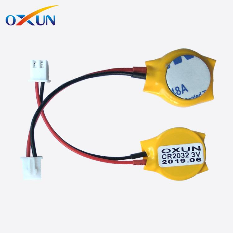 Lithium battery 3v cr2032 with solder tabs pins wires connectors cr2032 battery 5