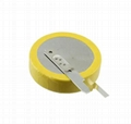 Lithium battery 3v cr2032 with solder tabs pins cr2032 battery 2