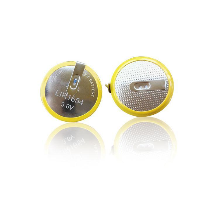 LIR2450 3.6v lithium ion button cell battery 120mah  5