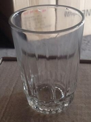 Gilded Round Borosilicate  Glass Cup