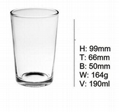 Glass Tempered Cup / Thickened Straight Cup / Machine Pressure Cup SDY-F0021