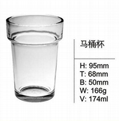 Hot Sale Machine Pressed Single Wall Glass Cup SDY-F0030