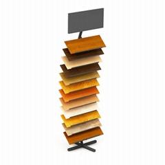 WD606 Metal Flooring Tile display Rack Stand