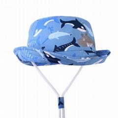 優質全棉儿童遮陽帽防晒帽抗UV