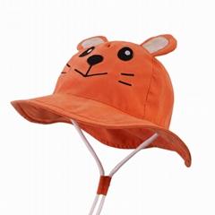 優質全棉儿童遮陽帽防晒帽抗UV(卡通)