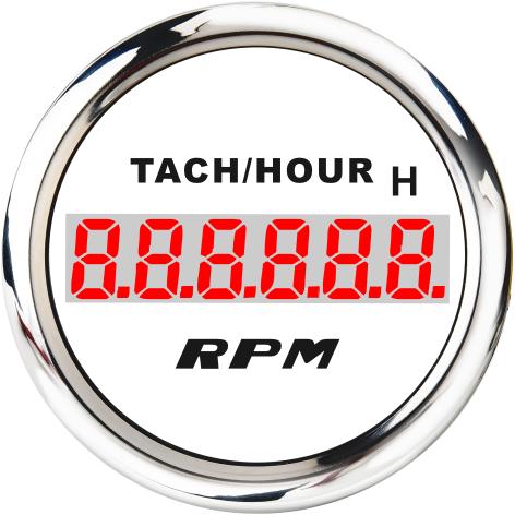 LCD Engine Hourmeter Tachometer Gauge 1