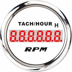 LCD Engine Hourmeter Tachometer Gauge