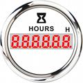 LCD Engine Hourmeter Tachometer Gauge 2