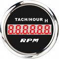 LCD Engine Hourmeter Tachometer Gauge 3