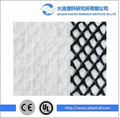High standard erosion control geocomposite drainage net for basement