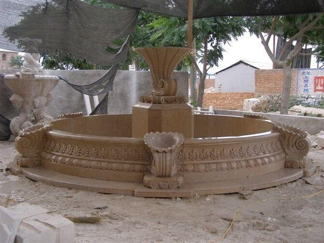Hot Sale Outdoor Natural Stone Marble Water Fountain Price Statue 1