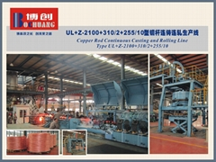 低氧铜杆连铸连轧生产线--液压收杆