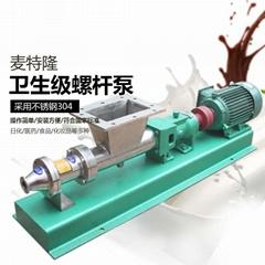 喂料型单螺杆泵食品级卫生型不锈钢高粘度霜膏物料输送泵柱塞泵
