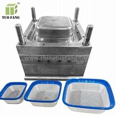 plastic basket mould double color plastic injection basket mould
