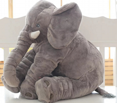 A pillow stuffed with a cartoon elephant cushion