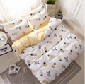 Cartoon cartoon series aloe cotton bed sheet and quilt set four pieces 3