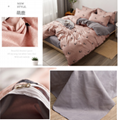Cartoon cartoon series aloe cotton bed sheet and quilt set four pieces 4