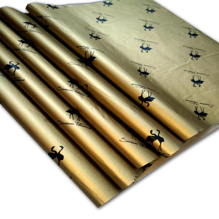 17g Gold printed wrapping tissue paper 3