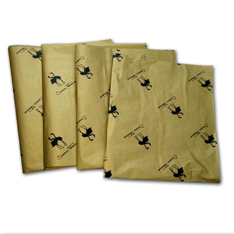 17g Gold printed wrapping tissue paper 5