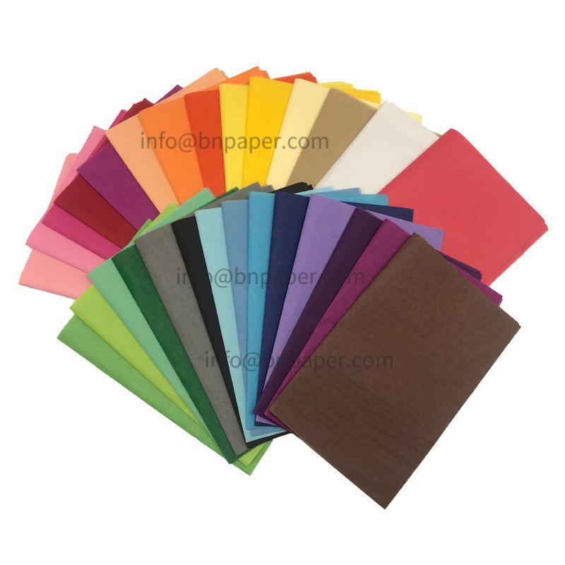 Double smooth 28 colors 17 gsm MF Color/Coloured wrapping tissue paper 2