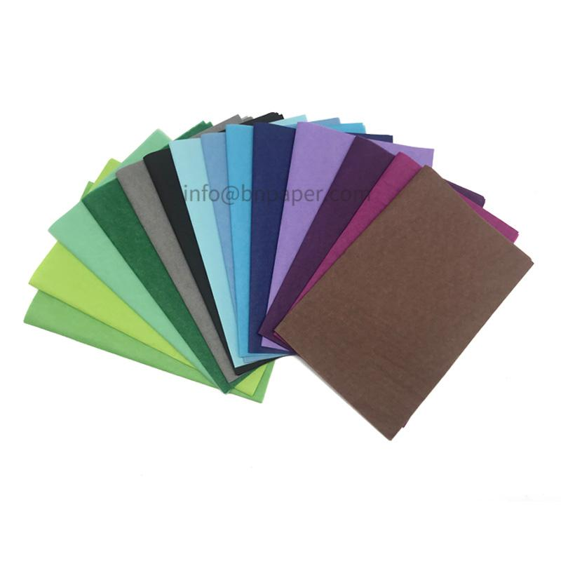 Double smooth 28 colors 17 gsm MF Color/Coloured wrapping tissue paper 5