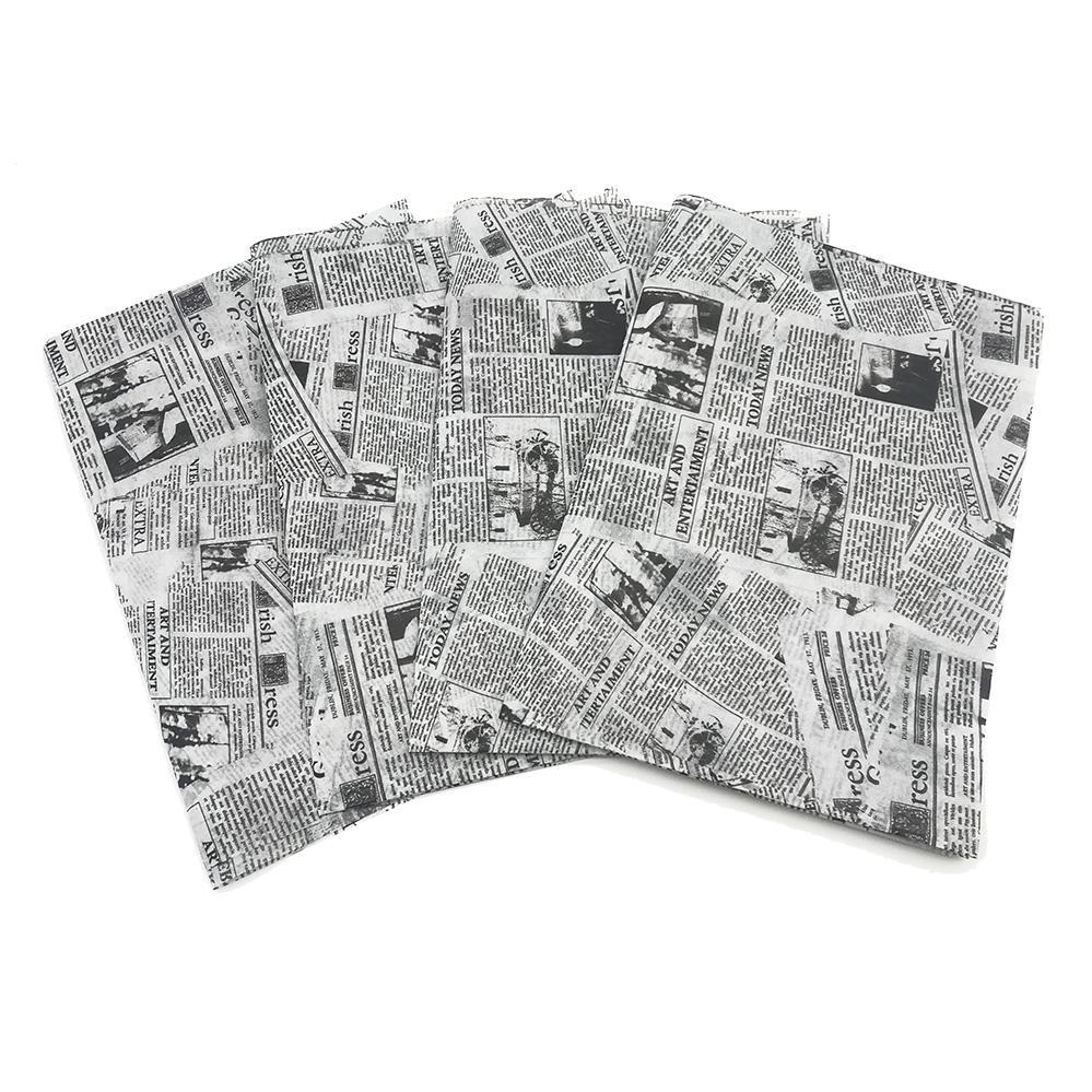17g旧报纸图案礼品包装印刷拷贝纸 1