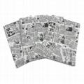 17g舊報紙圖案禮品包裝印刷拷