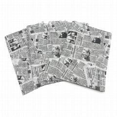 17g旧报纸图案礼品包装印刷拷贝纸
