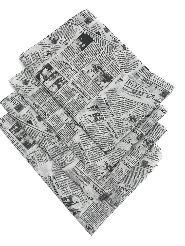 17g旧报纸图案礼品包装印刷拷贝纸 3