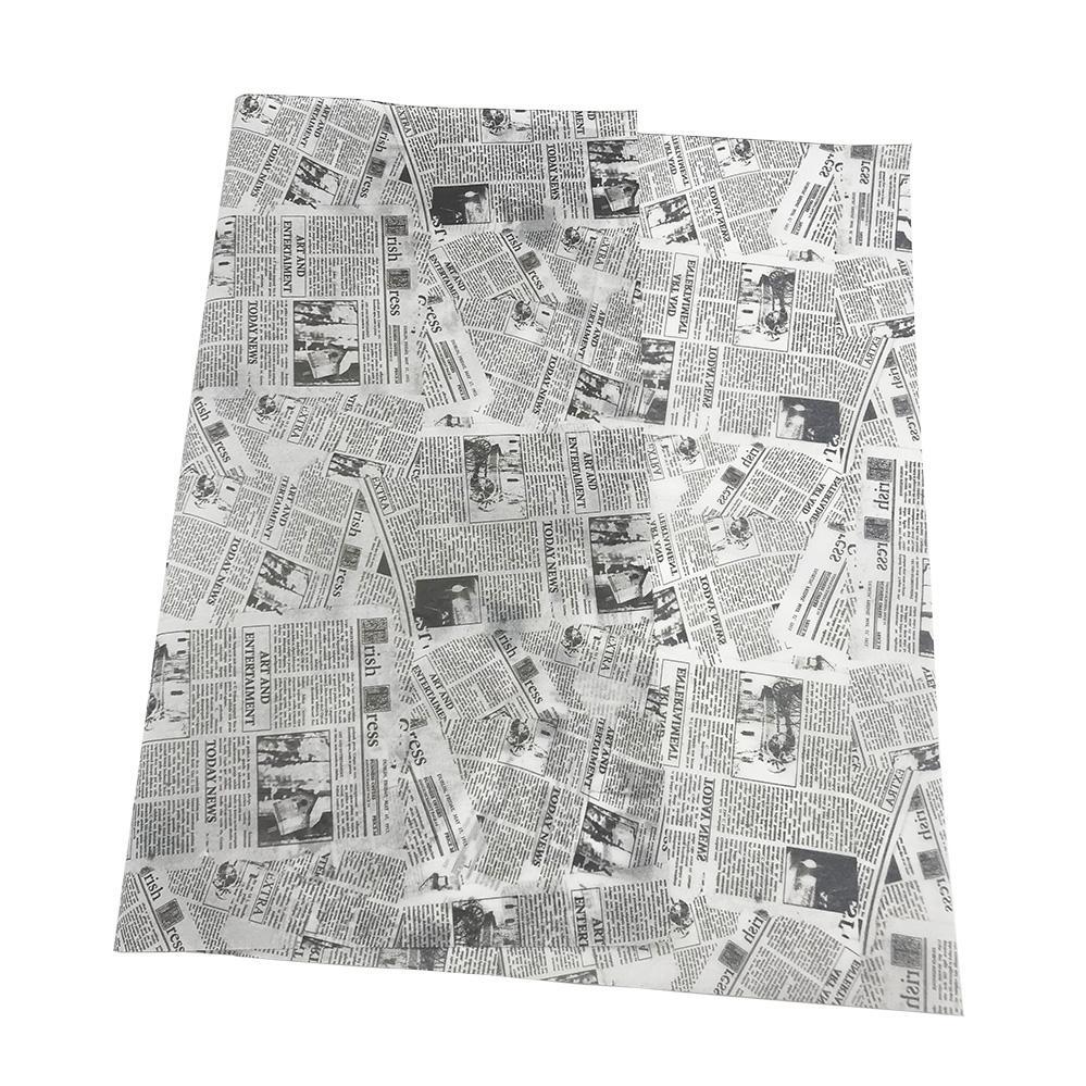 17g旧报纸图案礼品包装印刷拷贝纸 5