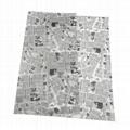 17g舊報紙圖案禮品包裝印刷拷貝紙